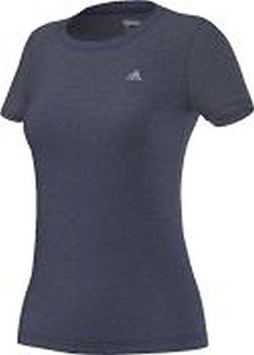 adidas AEROK Tee - Camiseta para mujer, color azul / blanco, talla S