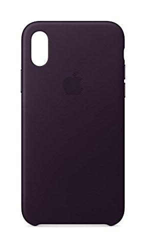 Apple iPhone X Leather Case - Dark - Purple Case Dark