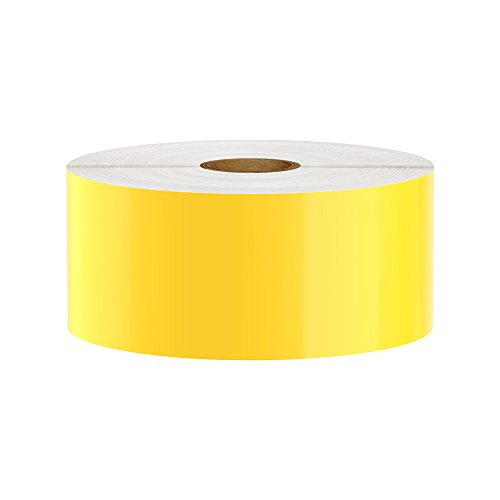 LabelTac Compatible Premium Vinyl Tape Supply, Yellow, 2