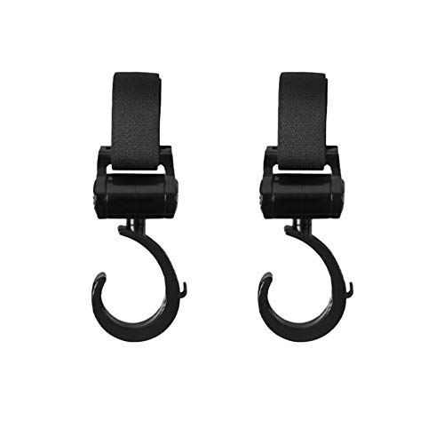 (2 Pack Stroller Hooks Multi Purpose Stroller Hook Clips On Any Baby Stroller Travel Systems Secure Purses Diaper Bags )