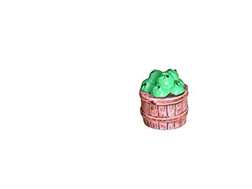 FERFERFERWON Micro Miniature Micro Landscape Fruits Apple Benna Ornamenti Fai da Te Decorazioni per la casa Regalo pianta (Verde) Decorazione del Paesaggio
