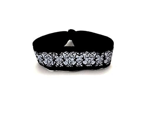 Black Floral Wrist or Ankle Band for Fitbit Inspire / Flex / Flex 2 / Alta
