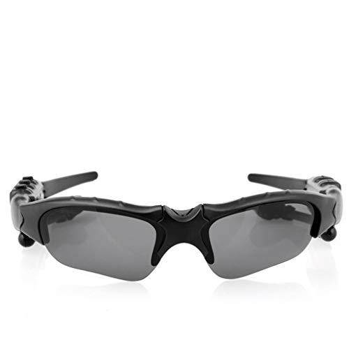 FEDULK Bluetooth Glasses Music Outdoor Cycling Driving Travel Sunglasses Headset Lightweight Earphone(Black)