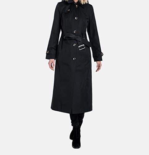 London Fog Women's Single-Breasted Trench Coat with Belt, Black, Medium - Womens London Fog Coat