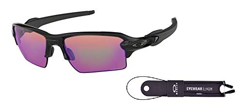 Oakley Flak 2.0 XL OO9188 918805 59M Polished Black/Prizm Golf Sunglasses For Men+BUNDLE with Oakley Accessory Leash Kit