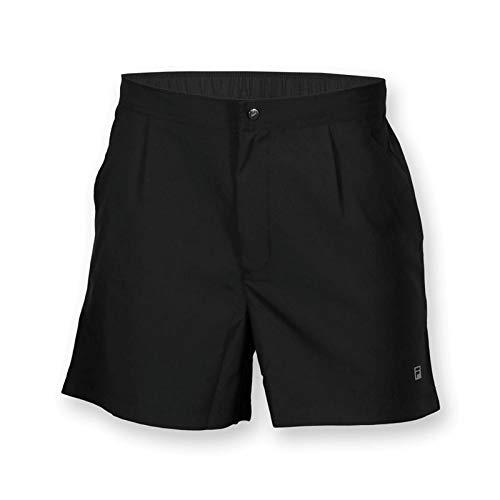 Fila Men's Fundamental Santoro Tennis Shorts, Black, 2XL