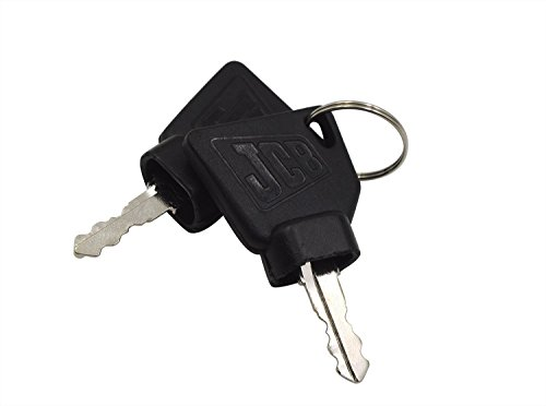 QTMY Ignition Keys for JCB Heavy Equipment 2 Pack