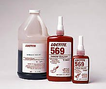 Loctite 569 Thread Sealant - Brown Liquid 250 ml Bottle - Tensile Strength 24 psi - [PRICE is per BOTTLE]