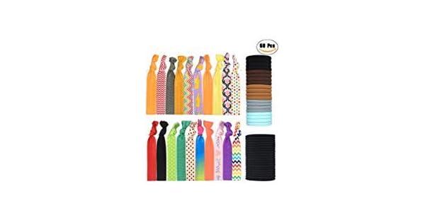 Amazon.com: Gomas para el pelo elásticos para Coleta – Mujer ...