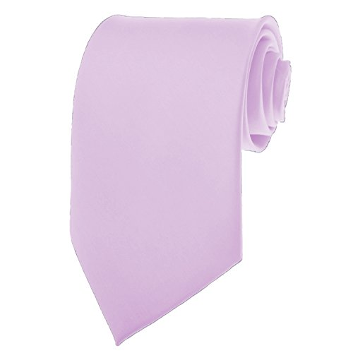 Lavender Necktie SOLID Mens Neck Tie Satin