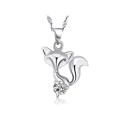 (Flyan Charm Cute Fox Pendant Necklace Jewelry Gifts for Women)