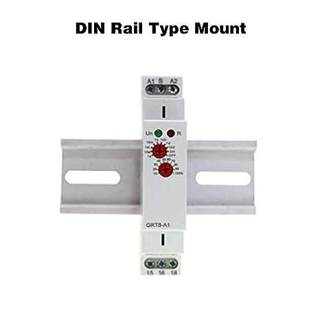 mini rel/é de tiempo de retardo de apagado para riel DIN de 35 mm Rel/é de retardo de tiempo GRT8-B1 AC//DC 12V ~ 240V Interruptor de rel/é del controlador del temporizador retardo apagado