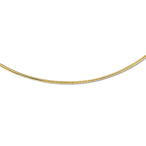 (Leslie's 14K 2mm Round Omega Necklace)