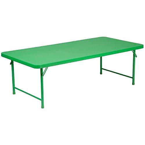 Flash Furniture 30''W x 60''L x 19''H Kid's Green Plastic Folding -