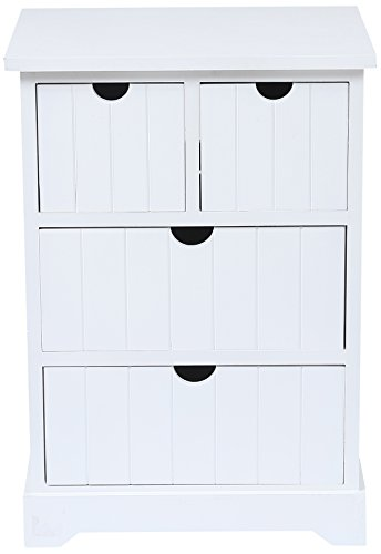 Winsome House Bead Board Wood Cabinet, White
