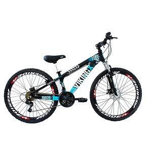 f4ad492ead Bicicleta Viking X TUFF25 Freeride Aro 26 Freio a Disco 21 Velocidades  Cambios Shimano Preto Azul