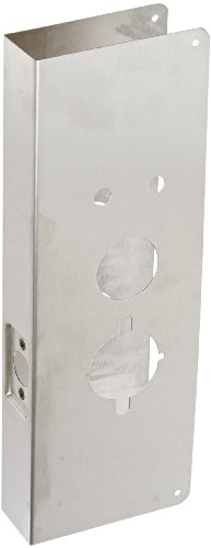 Don-Jo 27-CW 22 Gauge Stainless Steel Wrap-Around Plate, Satin Stainless Steel Finish, 5