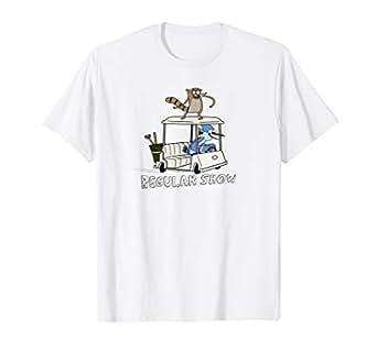 Amazon.com: Regular Show Mordecai y Rigby - Camiseta de ...