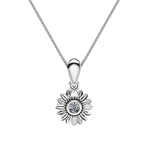 Small Fresh Multicolor Sun Flower Small Daisy Metal Necklace Ladies Jewelry Necklaces Jewelry Affordable Gift for Women Girls Lover Teens Couples Decors Engagement Wedding Anniversary ()