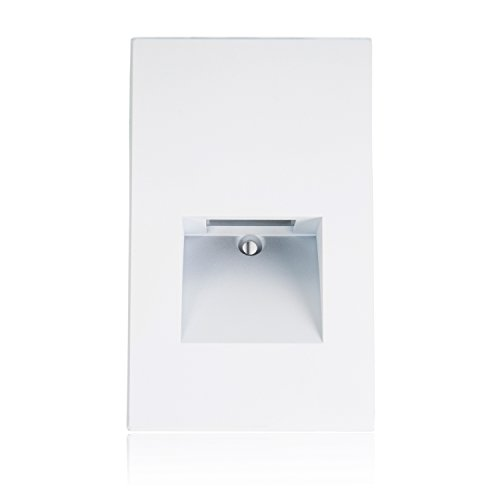 Maxxima Vertical LED Step Light Indoor Outdoor Stair Light Warm White, 3000K (Recessed Vertical Step Light)