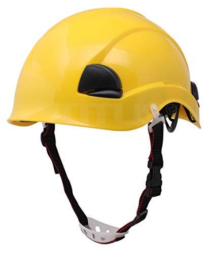 Titus Climbing Helmet Work Safety Tree Rock Rescue Hard Hat (Yellow)