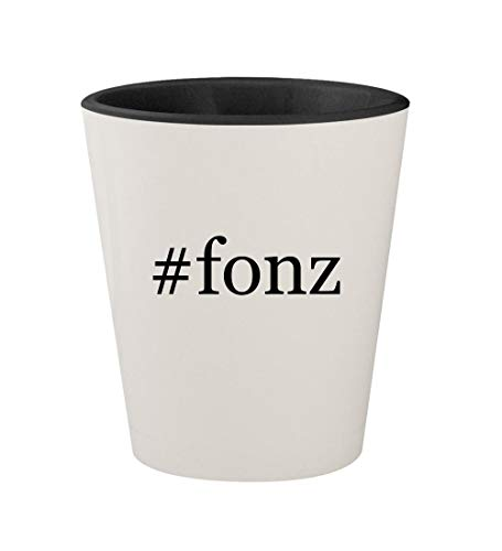 #fonz - Ceramic Hashtag White Outer & Black Inner 1.5oz Shot Glass