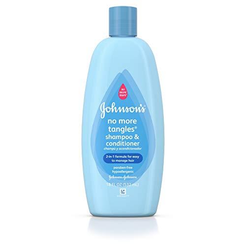 Johnson's No More Tangles Extra Conditioning Shampoo & Detangler, 18 Fl. Oz. (Pack of 2)