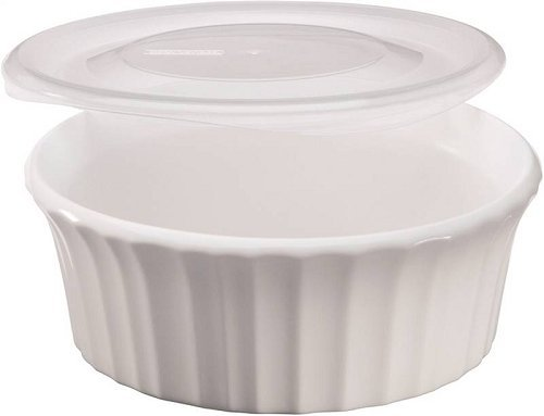 White 16 Oz Round Dish - Baking Dish French White 16oz by CorningWare