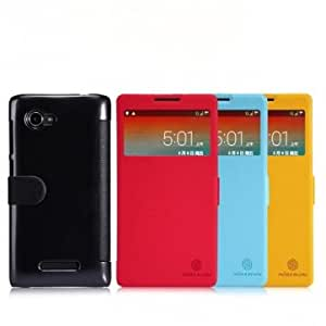 NILLKIN Fresh Series PU Leather Case For Lenovo A880 --- Color:Red