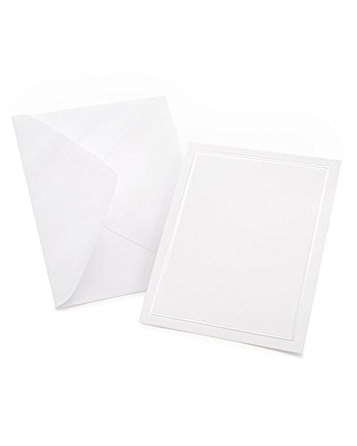 (White Pearl Border All Purpose Blank Cards )