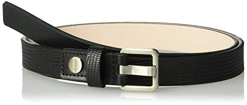 Calvin Klein Women's Lizard Belt, black, Small