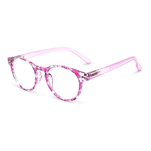 OCCI CHIARI Anti-blue light Reading Glasses Computer Prescription Reader with Spring Hinge Comfortable 400 ()