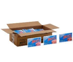 Jell-O Gelatin Sugar Free Variety (Raspberry, Strawberry, Cherry), 2.75 Oz.,18 per case
