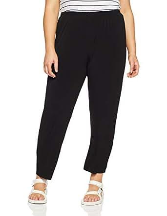 My Size Women's Plus Size Narrow Leg Knit Pant, Black, X-Small