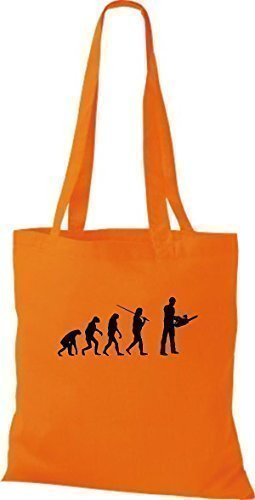 Shirtinstyle - Bolso de tela de algodón para mujer naranja - naranja