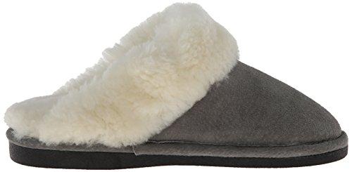 Old Friend Womens 441169 Scuff Pantofola Di Montone Grigio