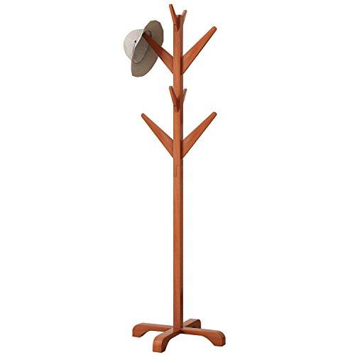 DlandHome Solid Wood Coat Rack, Entryway Free Standing Hat Jacket Coat Hanger Clothing Rack, Corner Hall Umbrella Tree, YJ001-HC Honey Color, 1 Pack by DlandHome (Image #6)