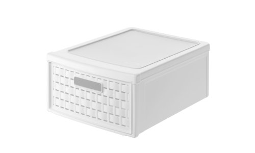 (Rotho Country Storage Drawer Box Small, White, 35 x 26 x 14,5 cm)