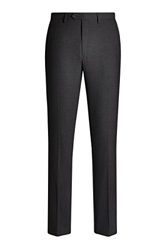 next Homme Pantalon sans pinces Gris Anthracite Élastique 34 / Regular - Skinny Fit