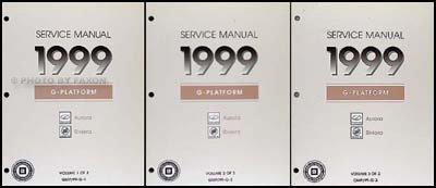 1999 Olds Aurora & Buick Riviera Repair Shop Manual Original 3 Volume ()