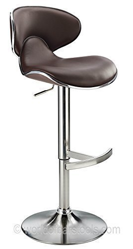 Costantino Swallow Brushed Steel Bar Stool (Black)