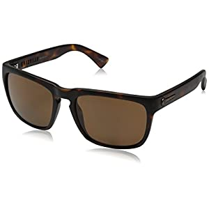 Electric Men's Knoxville Sunglasses, Matte Tort-Ohm Polarized Bronze, 47 mm