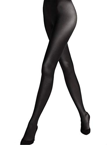 Wolford Satin De Luxe Tights-Black-XSmall -