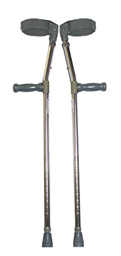 Invacare Elbow Forearm Crutches Walking Aid Adjustable Tall Heights 5'11