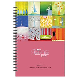 Her Point Of View Weekly - Franklin Covey(R) Her Point Of View Wirebound Weekly/Monthly Planner, 5 1/2in. x 8 1/2in, 30% Recycled, White, January to December 2018 (35928-18)