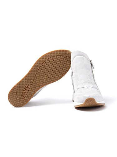 Women's Suede Geox Off Trainers Wedge White Nydame F6RRqp