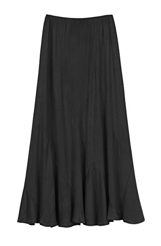 Urban CoCo Women's Vintage Elastic Waist A-Line Long Midi Skirt (XL, - Skirt Waist Gathered