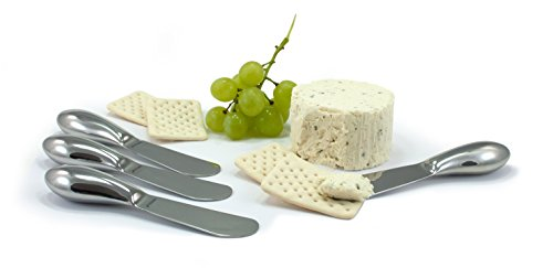 Oneida 4-Piece Cheese Spreader Set, Stainless Steel (4 Spreader Piece)