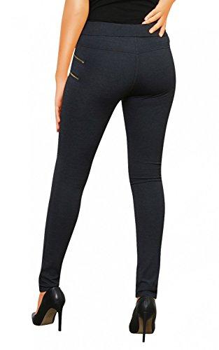 Danaest - Pantalón - skinny - Básico - para mujer gris