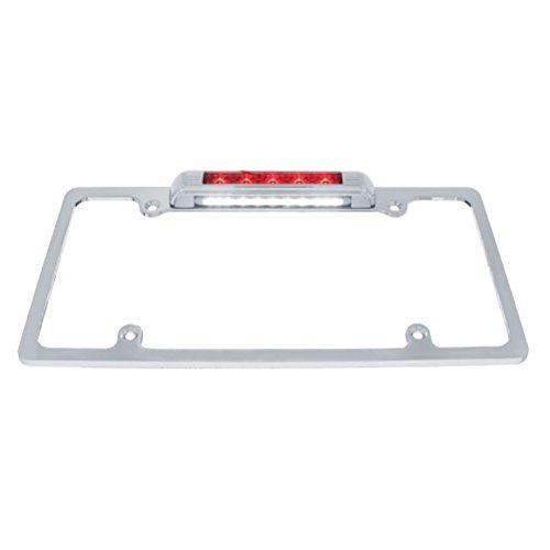 Chrome License Plate Bracket/Red LED Brake Stop Tail Light/LED License Light ()